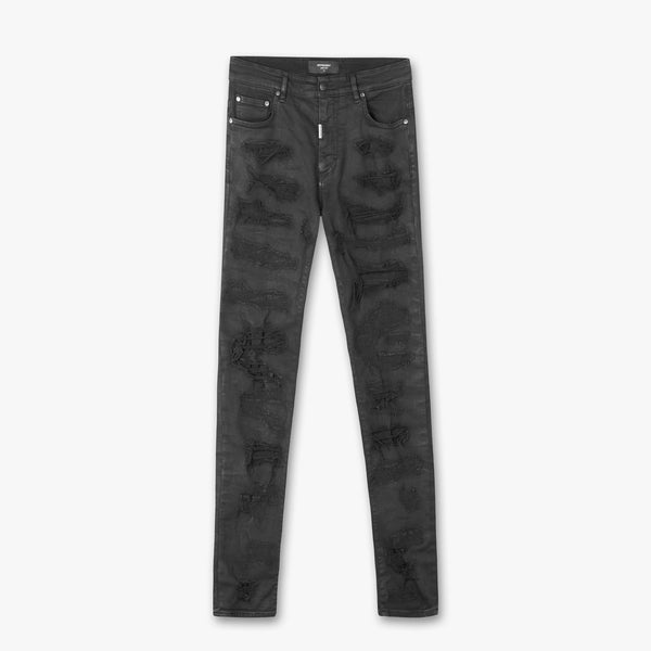 Represent: Shredded Denim (Oil Black)