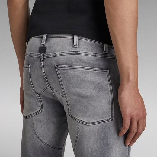 G-STAR RAW: 5620 3D ZIP KNEE SKINNY Denim Jeans (Sun Faded Glacier Grey)