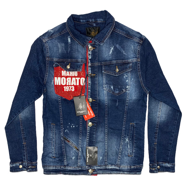 Mario Morato: 1973 Denim Jacket (Washed Denim/Red)
