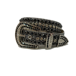 DNA: DNA Belt Black Glitter with Black and White Stones