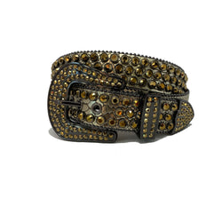 DNA: DNA Belt Bronze Leather with Gold Stones