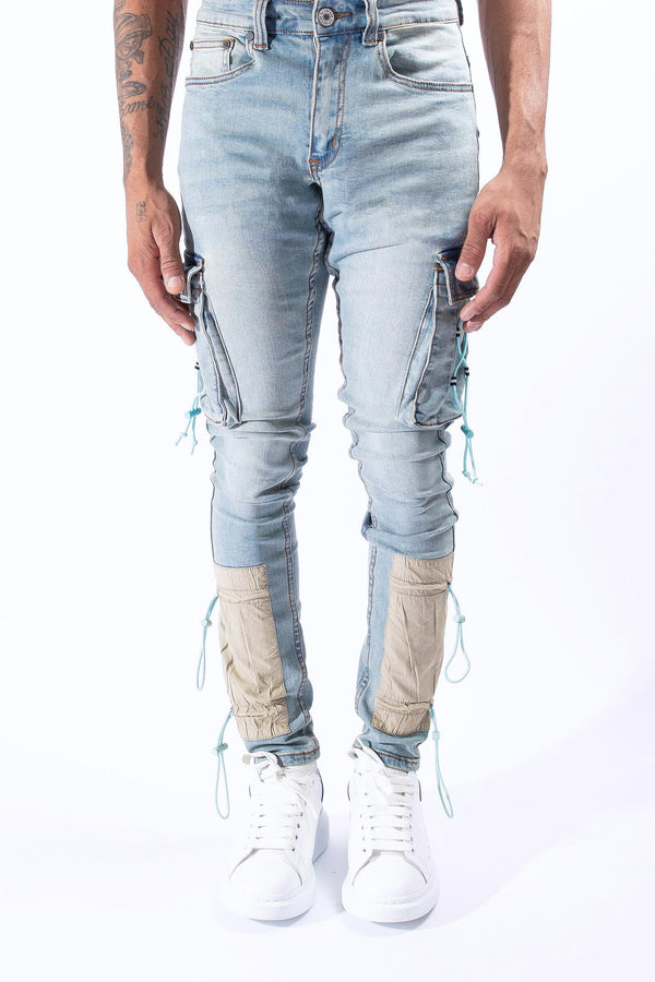 Serenede: Serenede ''Cyber Cloud'' Cargo Jeans
