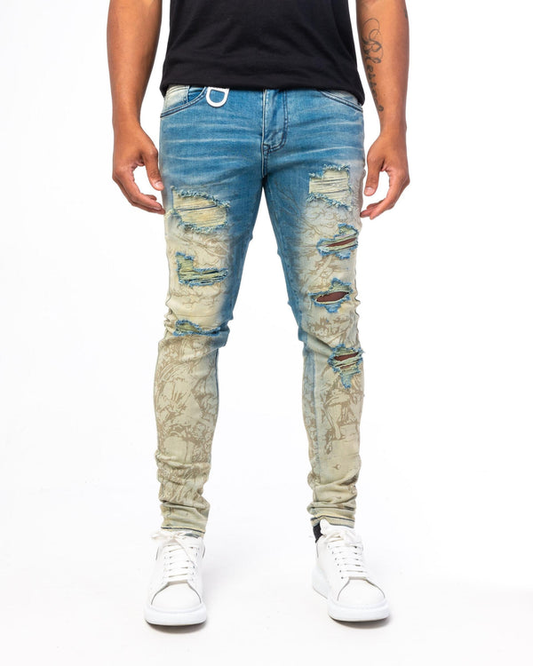 GALA BARBARIAN PRINTED DENIM