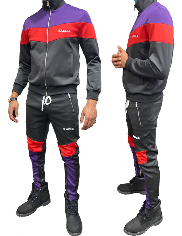 Karter Collection: Manzo Track Set (Black/Purple/Red)