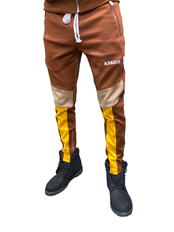 Karter Collection: Manzo Track Pants (Brown)