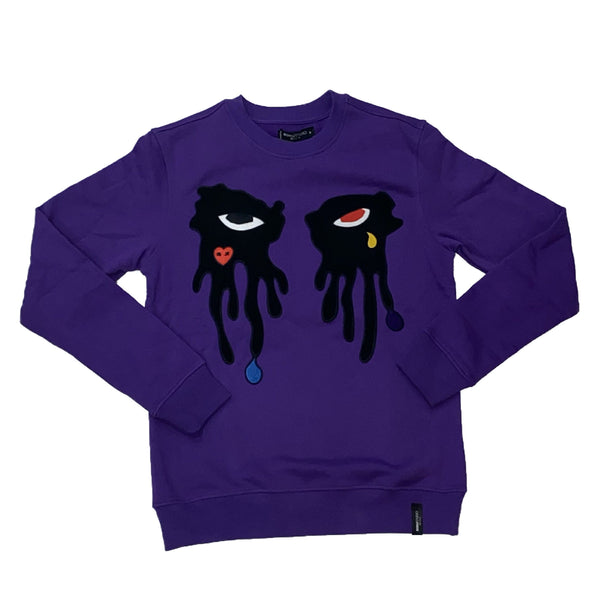 ROKU: ROKU Tear Dripping Crewneck Sweater (Purple)