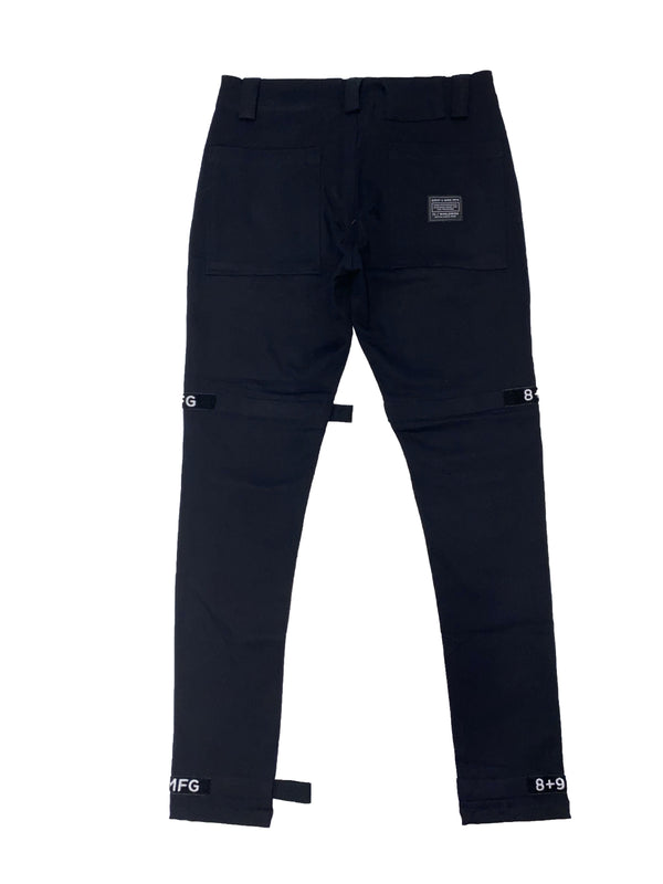 8&9: 8&9 Strapped Up Vintage Utility Pants (Black)