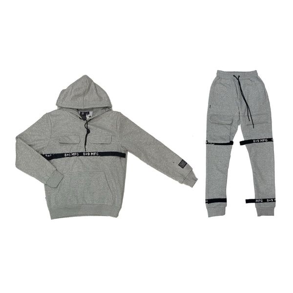 8&9: 8&9 Strapped Up Fleece Set (Grey)