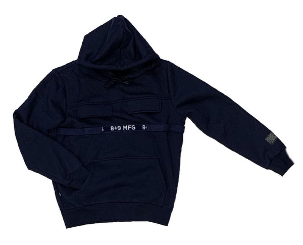 8&9: 8&9 Strapped Up Fleece Hoodie (Navy)