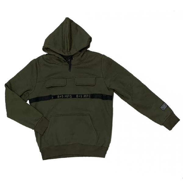 8&9: 8&9 Strapped Up Fleece Hoodie (Green)