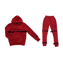 8&9: 8&9 Strapped Up Fleece Set (Red)