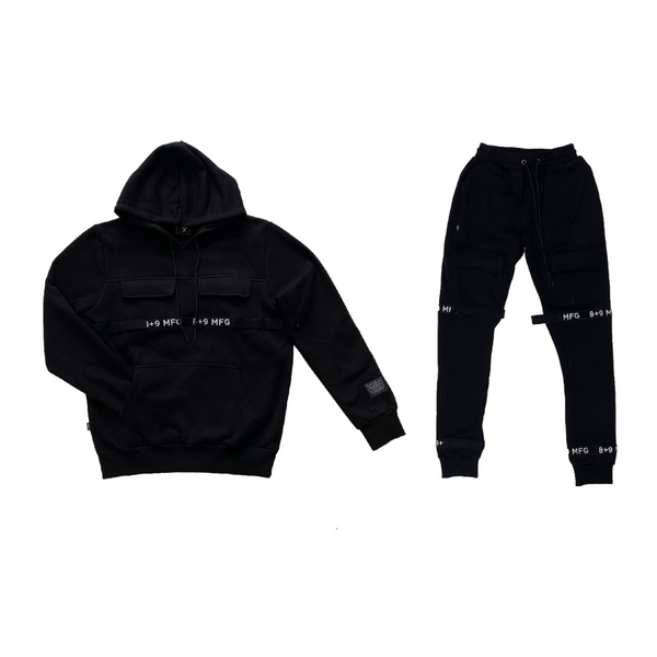 8&9: 8&9 Strapped Up Fleece Set (Black)
