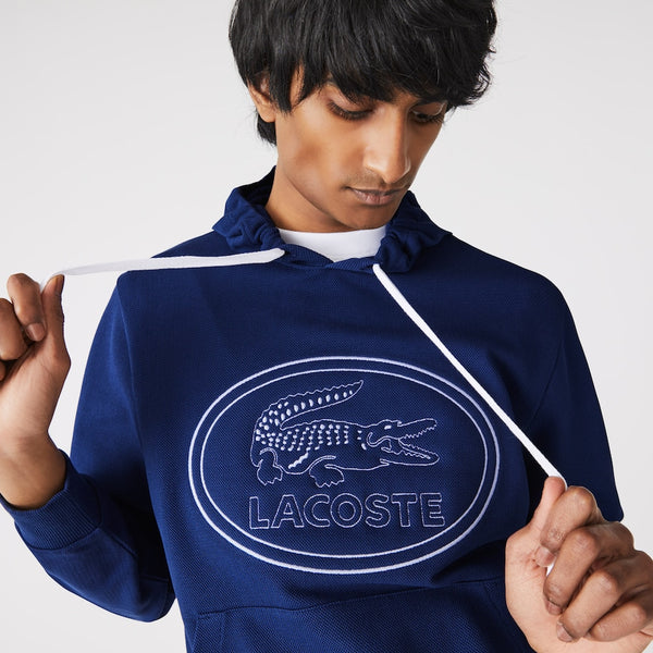 Lacoste: Embroidered Logo Hoodie (Navy)