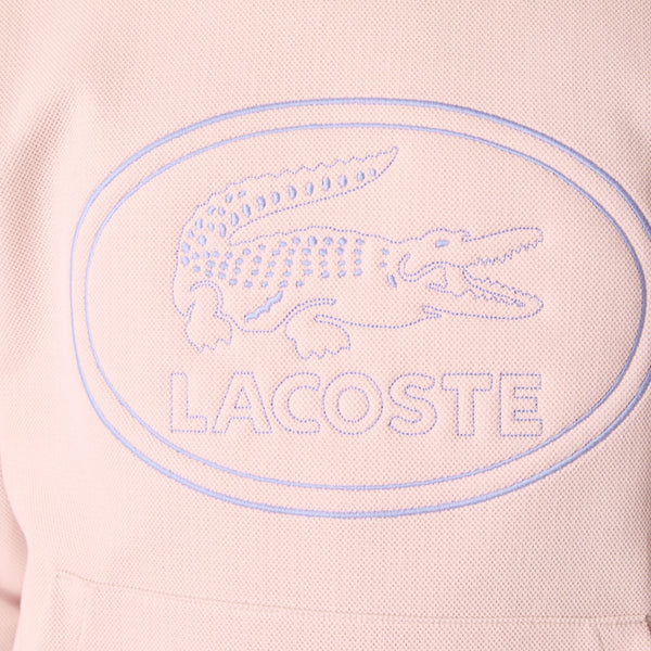 Lacoste: Embroidered Logo Hoodie (Light Pink)