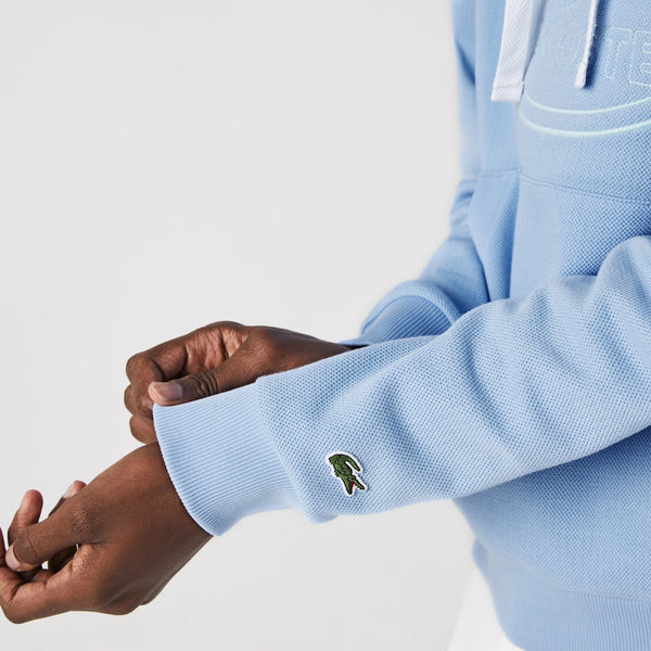 Lacoste: Embroidered Logo Hoodie (Light Blue)
