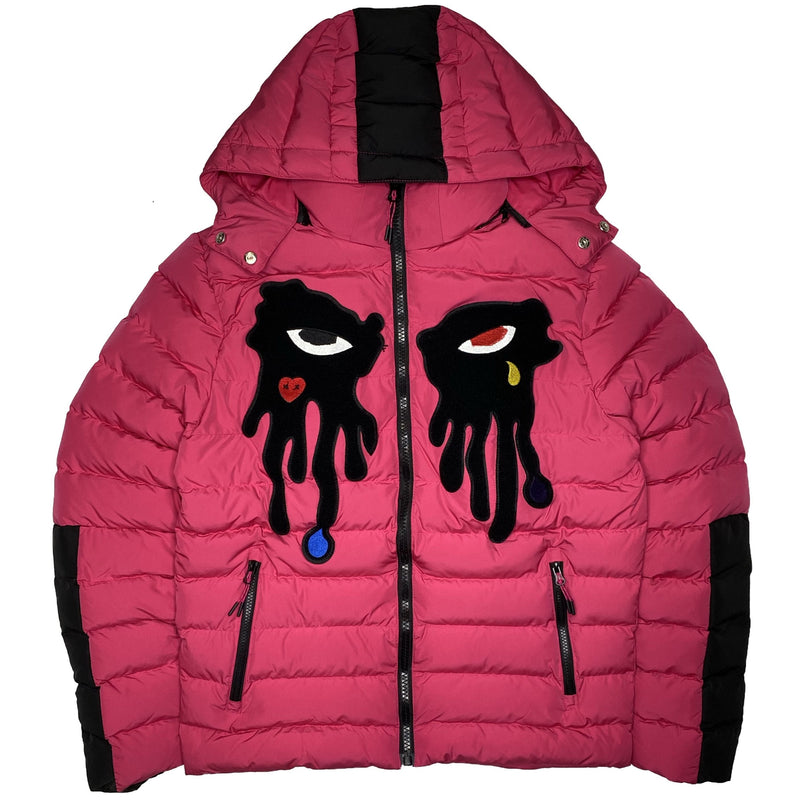 ROKU: ROKU Tear Drip Bubble Jacket (Pink)