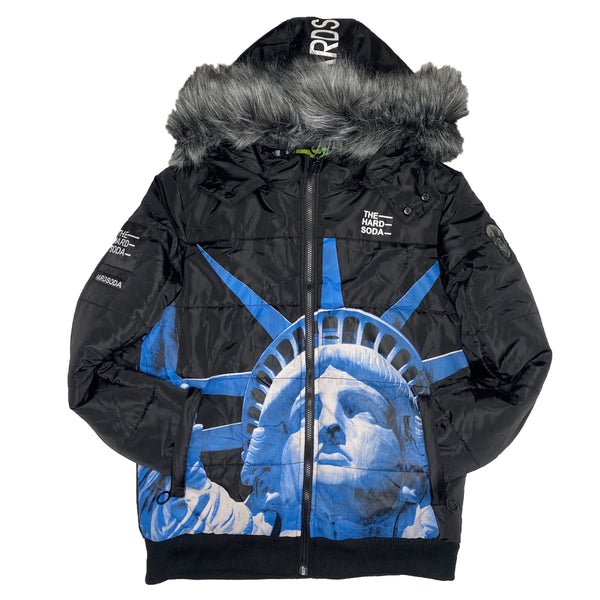 HARD SODA: Liberty Jacket (Black/Blue)