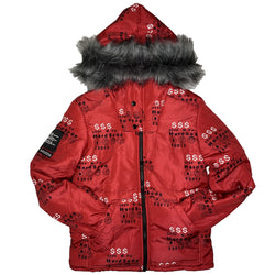 HARD SODA: Red Money Reversible Jacket (Crimson Red)