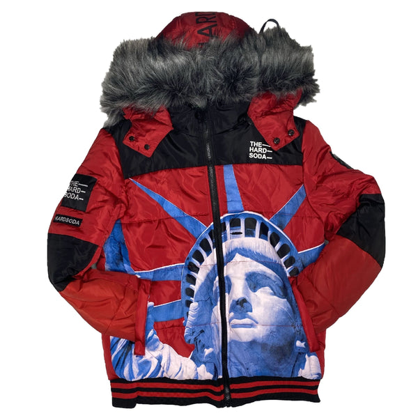 HARD SODA: Liberty Jacket (Red/Blue)