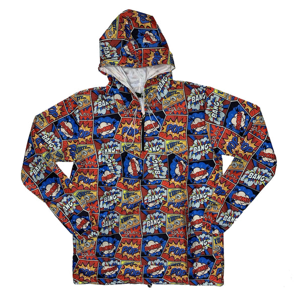 HiPNOZ: Sunday Funnies Utility Windbreaker (Blue)