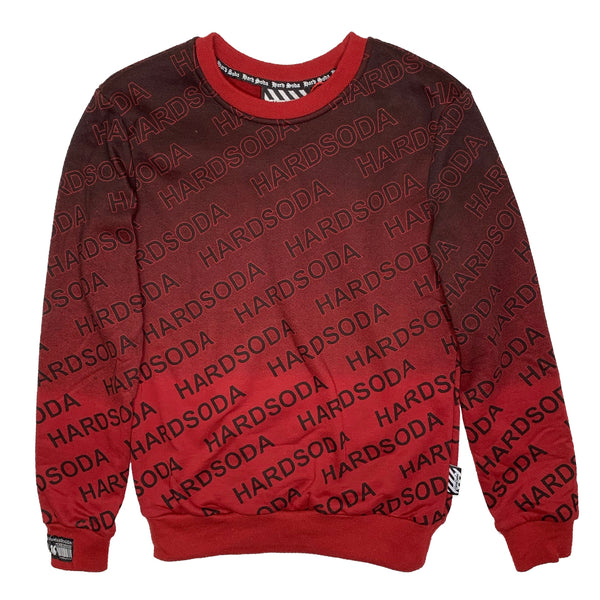 HARD SODA: Letter Print Sweater (Red Wine)