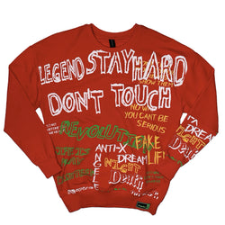 Plus Eighteen: Real Talk Crewneck (Red)