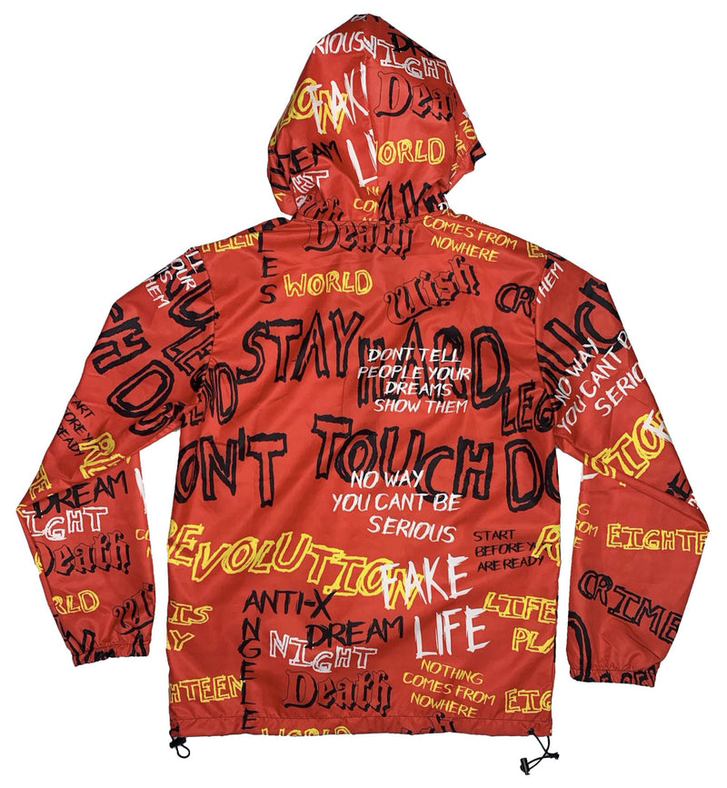 Plus Eighteen: Wild Words Windbreaker (Red)