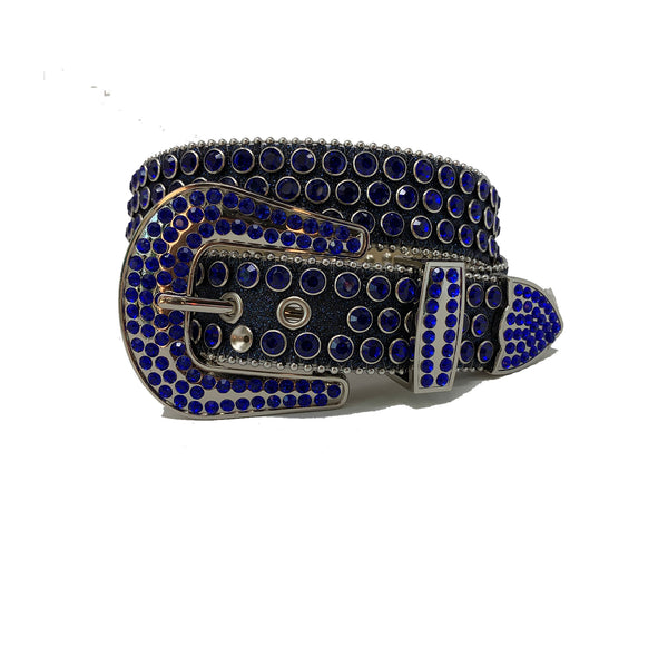 DNA: DNA Belt Navy Glitter with Blue Stones