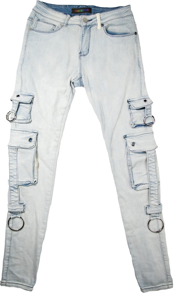 PHEELING: AUHL AOLOGNE CARGO PANTS (Light Blue)