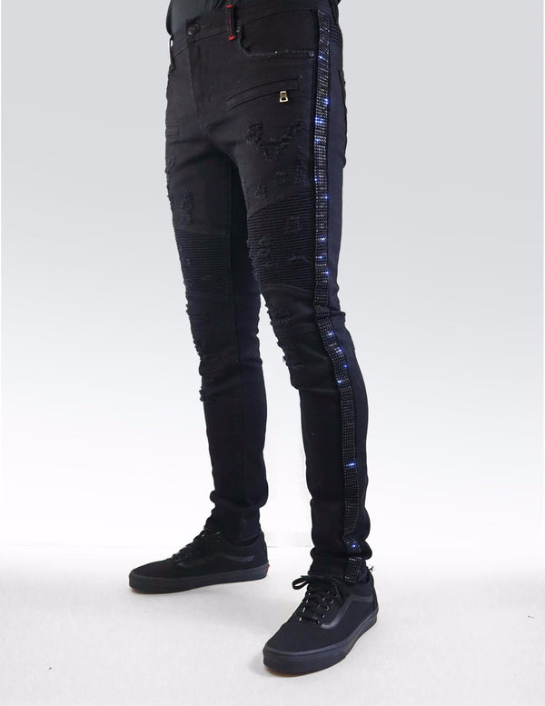 Preme: Buffalo Black Biker Denim (Black Stones)