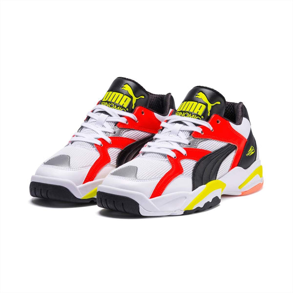 PUMA: PERFORMER RETRO (WHITE LAVA, BLAST YELLOW)