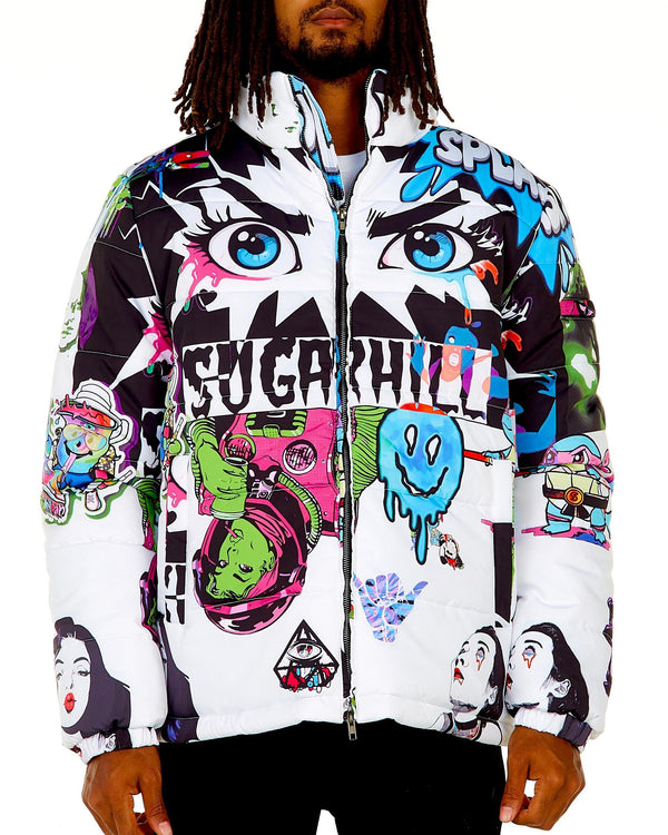 Sugar Hill: Psycho Puffer Coat (Blizzard)
