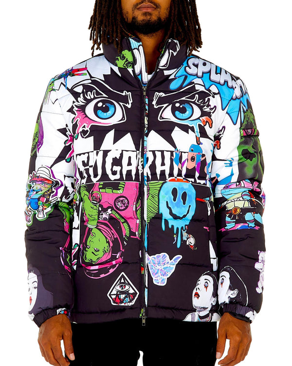 Sugar Hill: Psycho Puffer Coat (Shadow)