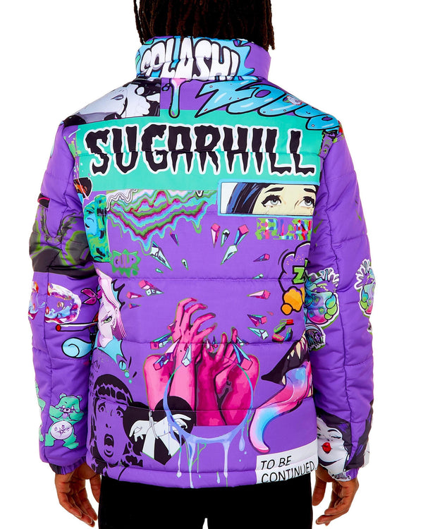 Sugar Hill: Psycho Puffer Coat (Syrup)