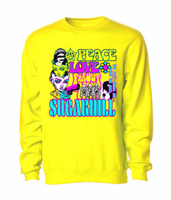 Sugar Hill: HIPPIE CREWNECK (YELLOW)