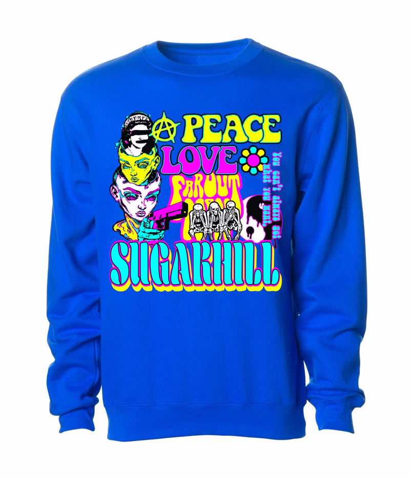 Sugar Hill: HIPPIE CREWNECK (ROYAL BLUE)