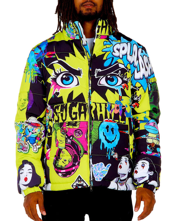 Sugar Hill: Psycho Puffer Coat (Hazard)