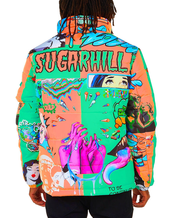Sugar Hill: Psycho Puffer Coat (Tang)
