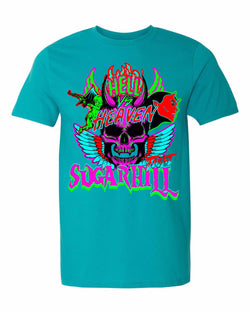 Sugar Hill: Hell vs Heaven T-Shirt (Teal)