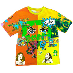 Sugar Hill: Split Psycho T-Shirt (Orange And Yellow)