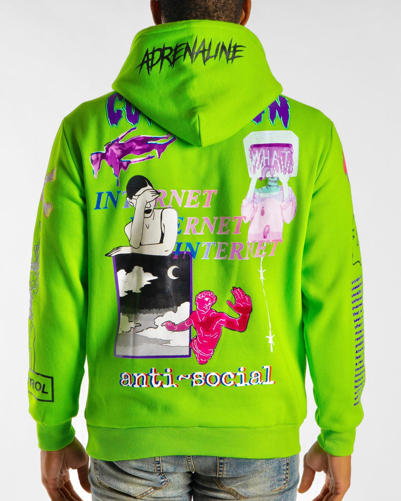 Sugar Hill: Anxiety Hoodie (Lime Green)