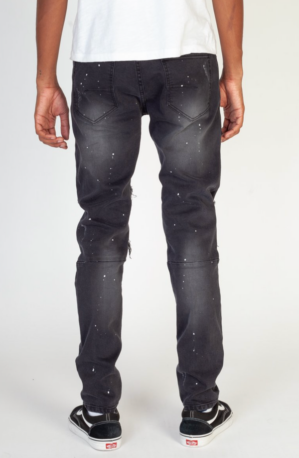 KDNK: Multi Patched Jeans (Black)