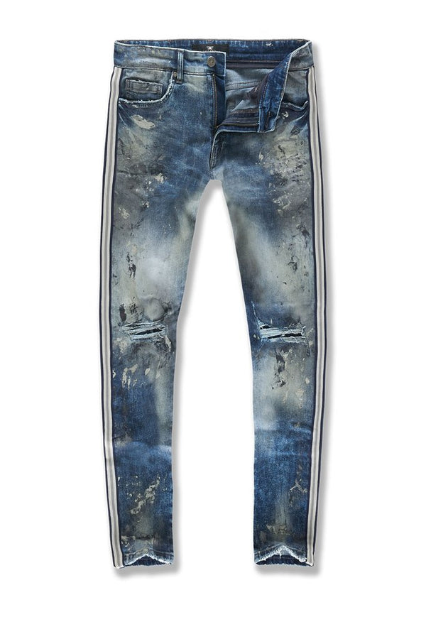 Jordan Craig: Sean Talledega Striped Denim (London Blue)