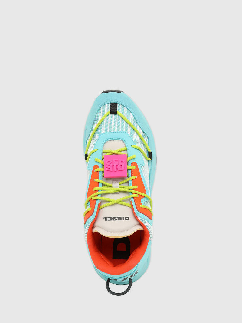 Diesel: S-SERENDIPITY LACE SNEAKERS (BLUE RADIANCE/CARROT)