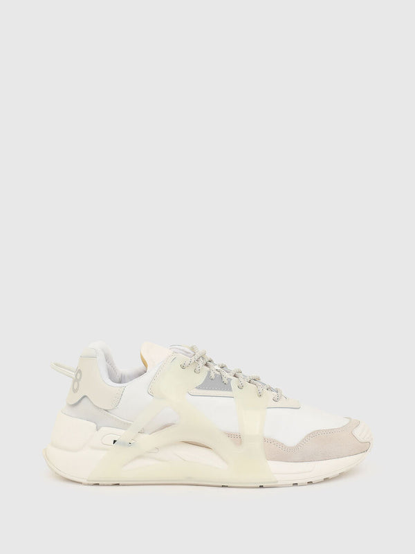 Diesel: S-SERENDIPITY MASK SNEAKERS (DIRTY WHITE)