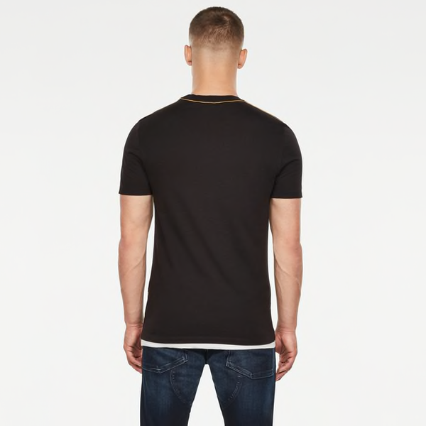 G-STAR RAW: RAW GRAPHIC SLIM T-SHIRT (Dark Black)