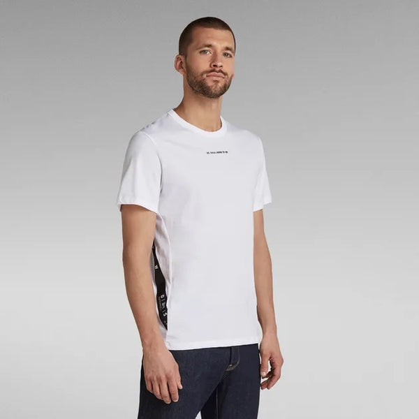 G-STAR RAW: SPORT A TAPE T-SHIRT (WHITE)