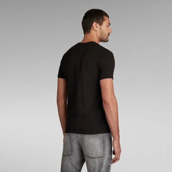 G-STAR RAW: OBJECT RAW SLIM T-SHIRT (DK BLACK)