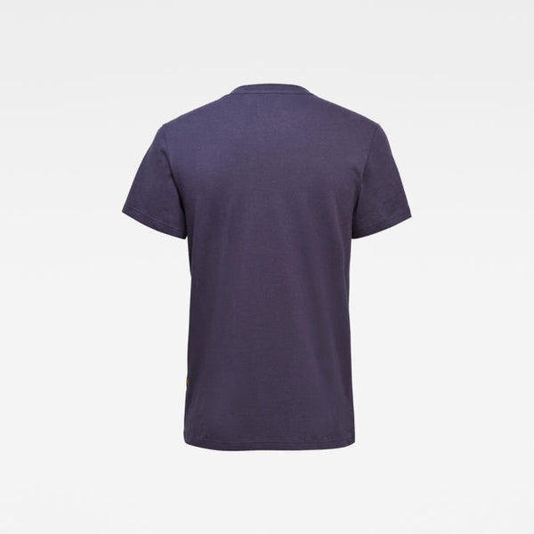G-STAR RAW: ORIGINALS STRIPE LOGO T-SHIRT (SARTHO  BLUE)