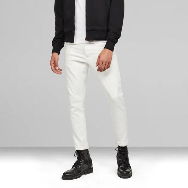 G-STAR RAW: 3301 SLIM DENIM (WHITE)